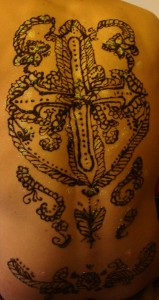 Henna Design on a Back by Jennifer Montgomery