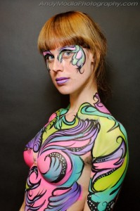Rock Ya Body painting by Jennifer Montgomery