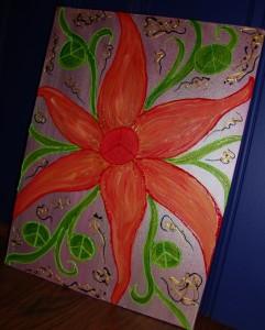 Peace Flower on Canvas