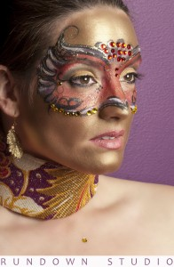 Mardi Gras Mask Face Paint