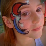 4th of July Face Painting Coatesville PA Chester County