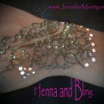 Henna  Body Art with Rhinestones