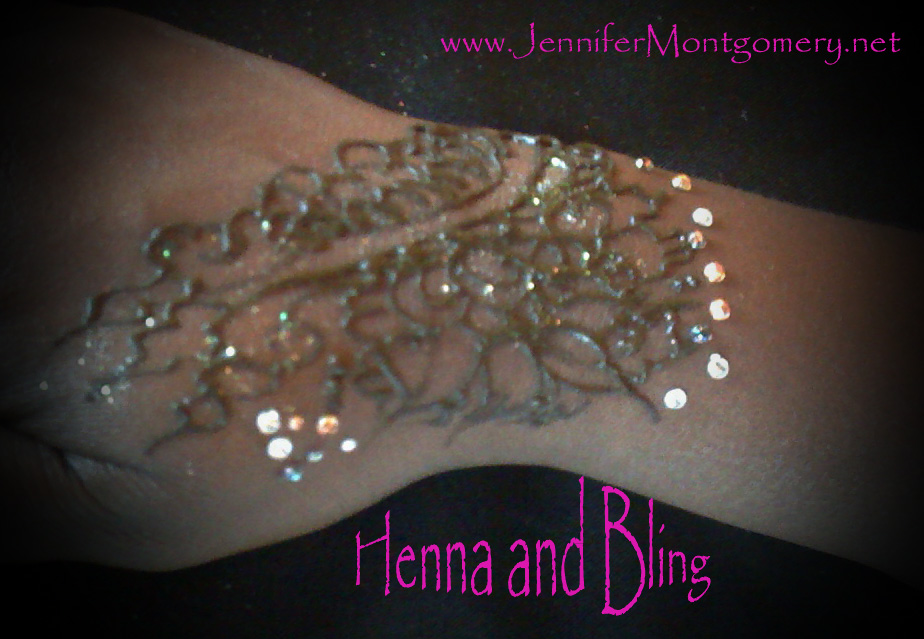 Henna at wells fargo center event crazyfaces face for Rhinestone body tattoos