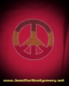 Rhinestone Shirt Peace sign Philadelphia PA