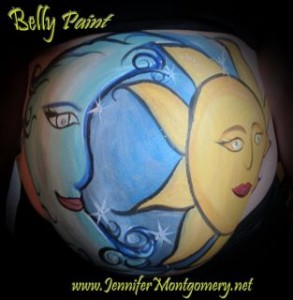 Sun and Moon Belly Paint Philadelphia PA