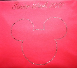 Mickey Mouse Rhinestone Shirt for Senior Week 2012