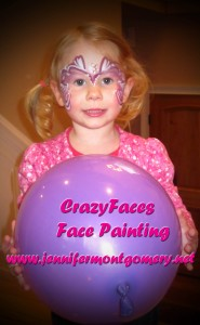 Face Painting at a  West Chester PA Birthday Party
