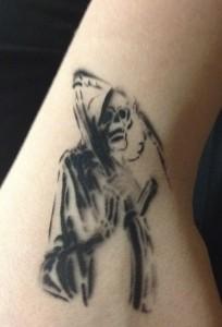 Grim Reaper Airbrush Tattoo Glenolden PA