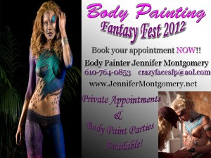 Fantasy Fest Body Painting Key West ,FL