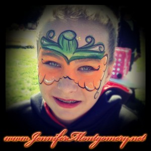 Halloween pumpkin face painting Chester County PA