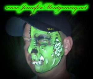 Half Scary Face Paint Design