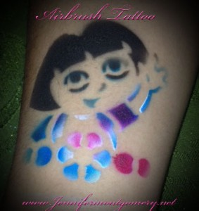 Dora the Explorer Airbrush Tattoos for Kids Parties Philadelphia PA