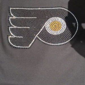 Philadelphia Flyers Rhinestone Bling Shirts are fun for  Parties, Events, Bat Mitzvahs in Philadelphia