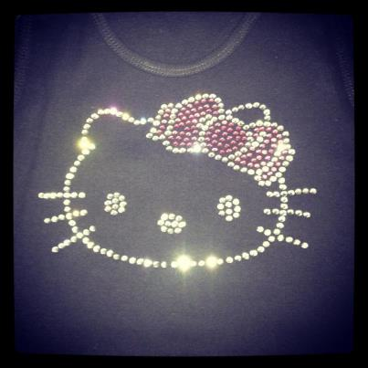 Hello Kitty Rhinestone Shirt Designs On Etsy Crazyfaces