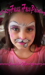 Pink Bunny Face Painting Wilmington Delaware