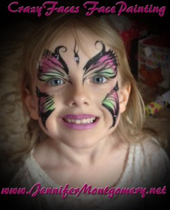 Butterfly Face Painting Birthday Party Jenkintown PA