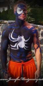 Venom Super Hero Body Paint Fantasy Fest Key West