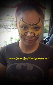 bat girl face painting concord township Chick-fil A