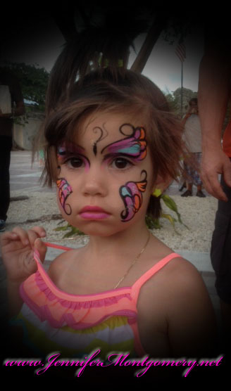 Key West Butterfly Face Painting Jennifer Montgomery Face Painter