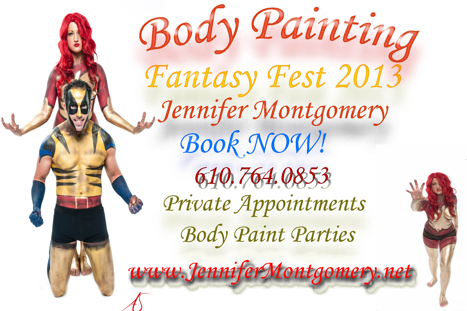 Body Paint Fantasy Fest 2013 Body Painter Jennifer Montgomery Key West Florida