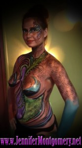 Body Painter Jennifer Montgomery Body Painting Philadelphia and Key West FL  Body Painting Demo Video Shoot