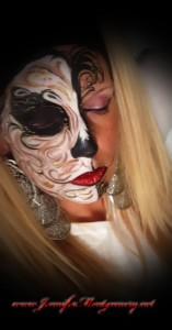 Sugar Skull Half Face Painting Philadelphia and Key West FL