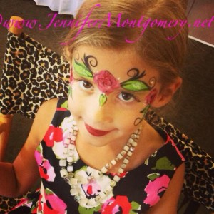 1st Birthday Party Flower Face Painting Wilmington Delaware
