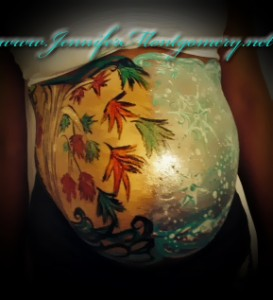 Belly Painting Philadelphia, Delaware, New Jersey by Face/Body Painter Jennifer Montgomery of Philadelphia PA and Key West FL
