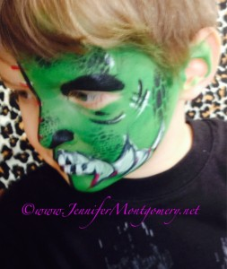 Monster face painting Delaware County PA