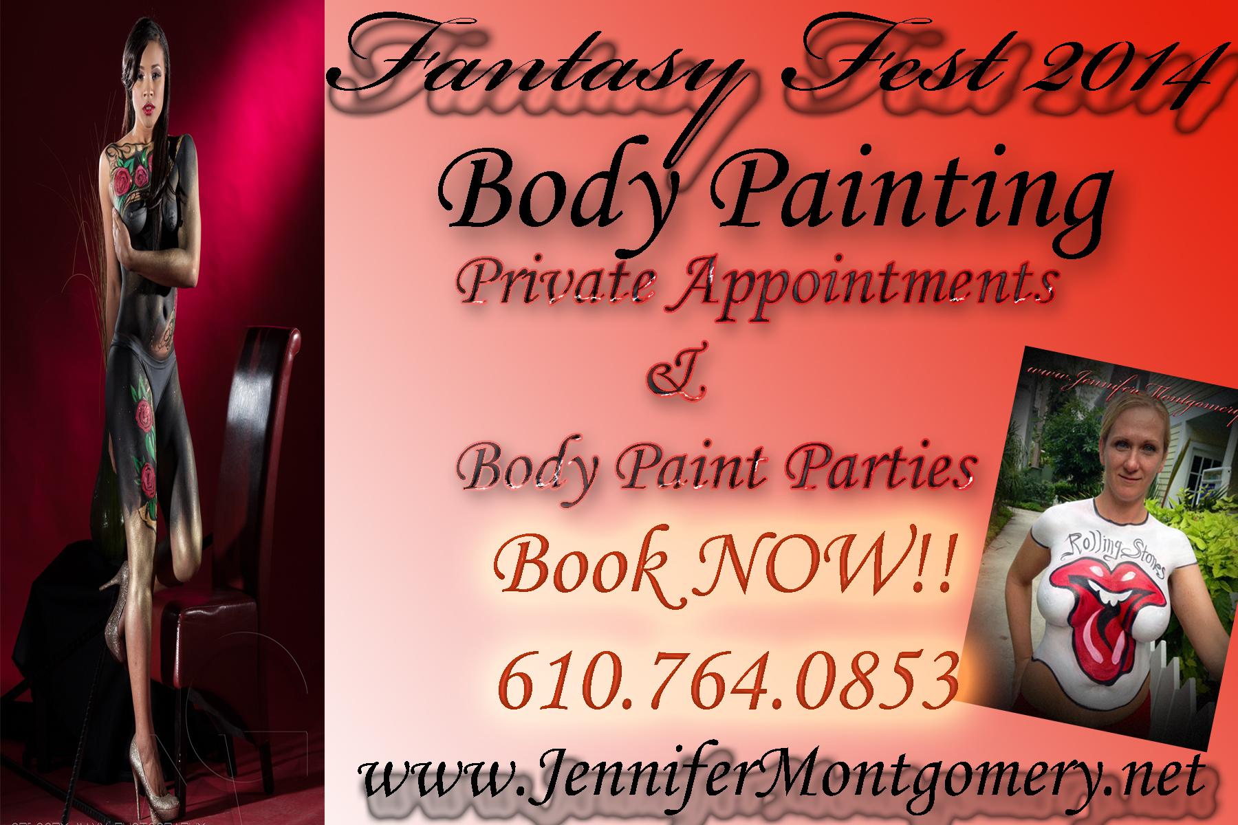 Fantasy Fest Body Painitng Key West Body Painter Jennifer Montgomery