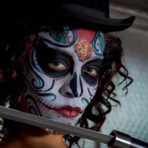 Sugar Skull Key West Face Painting Fantasy Fest Artist Jennifer Montgomery Body Painter