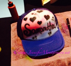 Airbrush Hats Philadelphia PA Bar Mitzvah