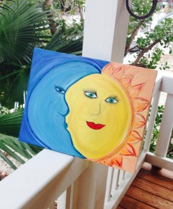 Moonshine Key West Sun and Moon Painting Key West Artist Jennifer Montgomery Artwork