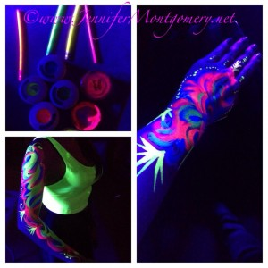 Glow in the Dark Face and Body Paint Nightclub Philadelphia PA