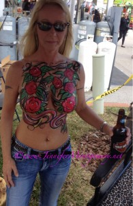 Daytona Bike Week 2015 Body Painting by Jennifer Montgomery