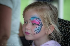 Face Painting Eye Design by Philadelphia/ Key West Artist Jennifer Montgomery