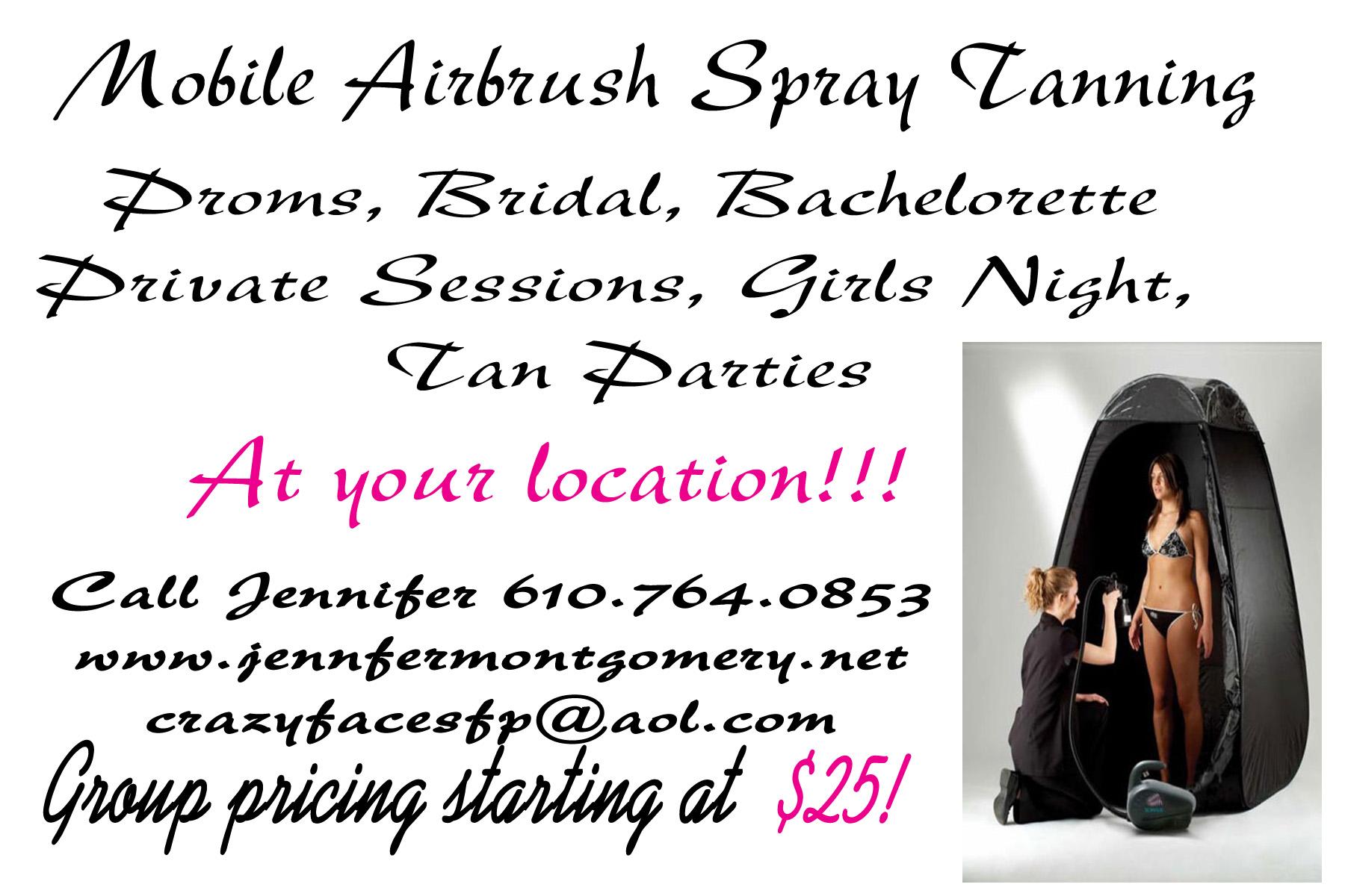 Airbrush Spray Tans Philadelphia PA Proms, Bridal, Tan Parties