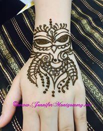Owl Henna Tattoo Philadelphia Key West Henna Artist Jennifer Montgomery 610.764.0853 www.jennifermontgomery.net