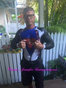SuperMan Key West Fantasy Fest Body Paint by Jennifer Montgomery