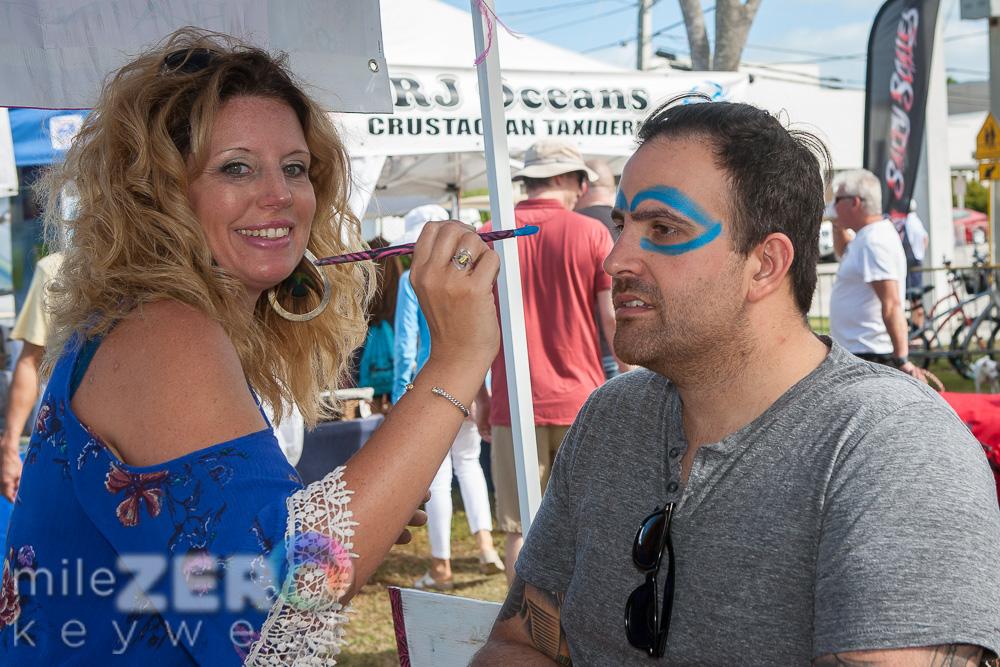 Face Painting Key West Seafood Festival Key West Fantasy Fest Body Painter Jennifer Montgomery 610.764.0853