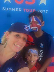 Miami Face Painting Paris Saint Germain Soccer Game with CrazyFaces FacePainting 610.764.0853