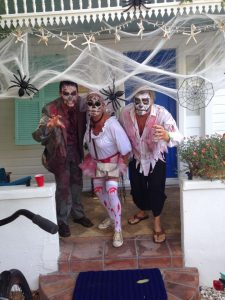 Zombie Bike Ride Face Painting for Fantasy Fest in Key West  by Jennifer Montgomery of CrazyFaces FacePainting and Body Art Philadelphia, Miami and Key West FL Parties, Events , Festivals , Corporate Events.