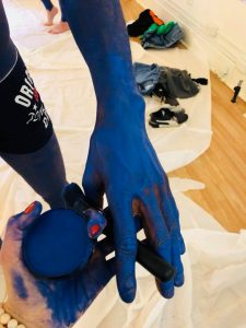 Philadelphia Body Painters Blue Man Body Painting