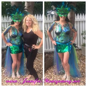 Fantasy Fest Body Painter Key West Body Painting by Body Painter Jennifer Montgomery of Philadelphia PA and Key West FL