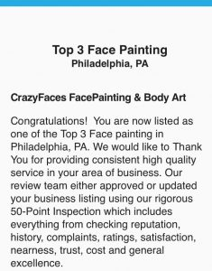 Philadelphia PA Face Painting Top Rated CrazyFaces Face Painting and Body Art