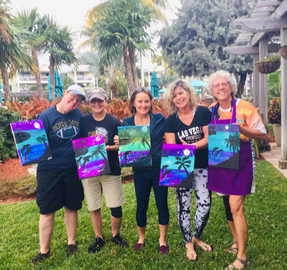 Book a Paint Party in Key West! Great for Paint n Sip, Resort Activities, Ladies Nights, Kids Parties and More! I bring everything :) Book online and take $35 OFF your first party of 4 or more:)