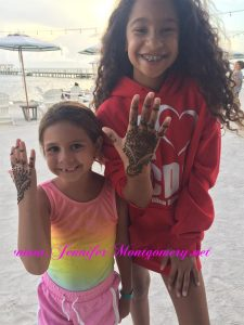 Cheeca Lodge Islamorada Henna and Hair Wraps Keys Key West  Henna Body Art by Henna Artist Jennifer Montgomery in Key West of CrazyFaces FacePainting Philadelphia Miami Key West