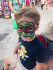 Face Painting in Kennett Square PA by Jennifer Montgomery of CrazyFaces Face Painting and Body Art Philadelphia 610.764.0853