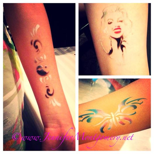 Airbrush Tattoos Philadelphia Parties Bat Mitzvahs Kids Birthdays and Events