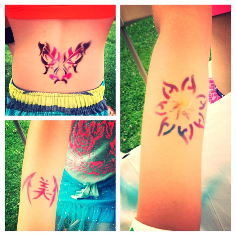 Kids Party Bat Mitzvah Airbrush Tattoos Philadelphia PA , New Jersey & Key Wes